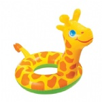 inflatable swim ring with giraffe shape