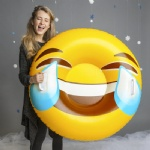 inflatable Emoji snow tubes