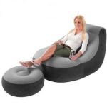 inflatable chair with round stool